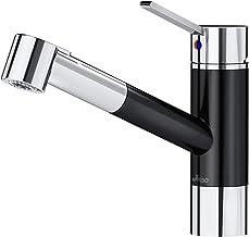 APPASO Küchenarmatur, Wasserhahn Küche mit herausziehbarer Spülbrause, Spültischarmatur mit hohem Auslauf, Bleifrei und Nickelfrei, Einhebel Mischbatterie Patentschutz