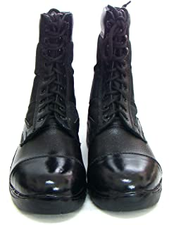 ASM Men's Black Casual para Boots with Genuine Leather Shoes
