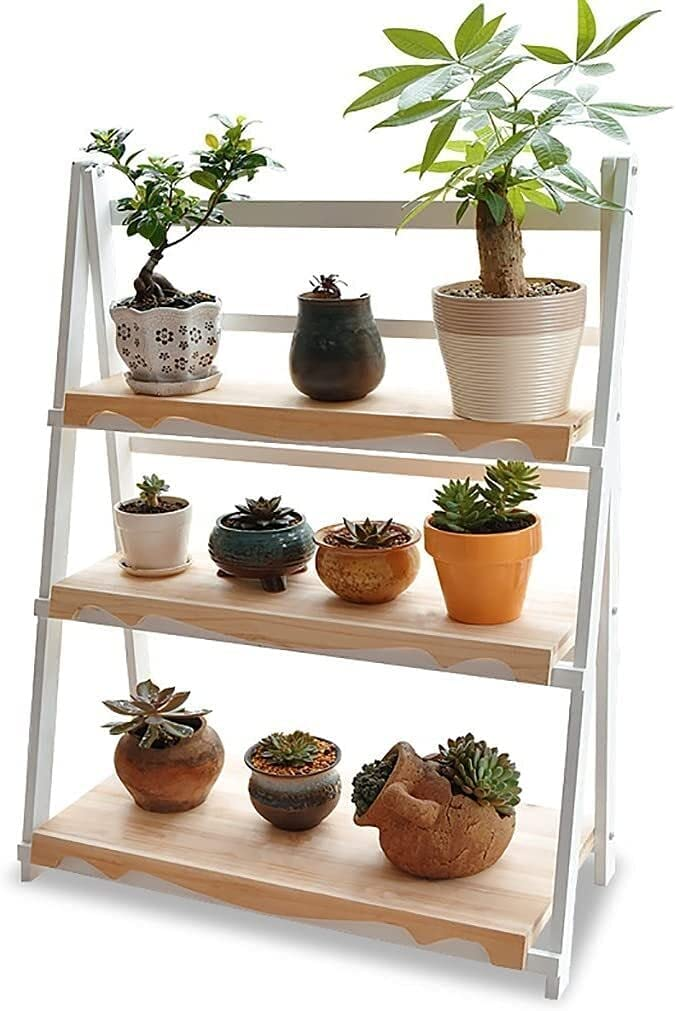 Plant Stands Flower Shelf Solid Room Wood NEW San Jose Mall before selling ☆ Living Floor Multi-L