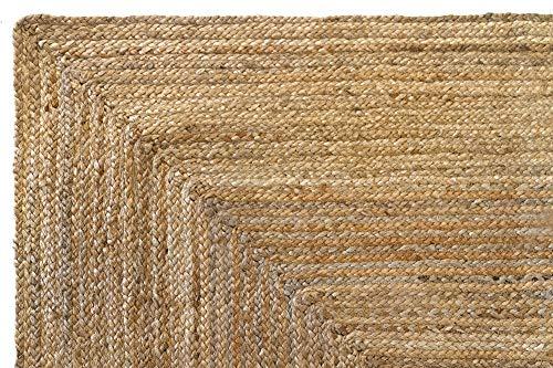 HAMID Alfombra Yute Alhambra Color Natural - Alfombra 100% Fibra de Yute (120x170cm)