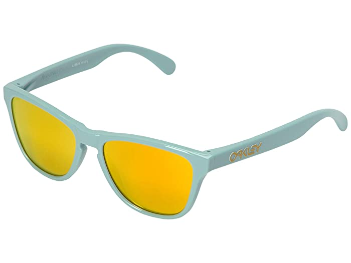 Oakley Frogskin XS (Youth) (Arctic Surf w/ Fire Iridium) Sport Sunglasses