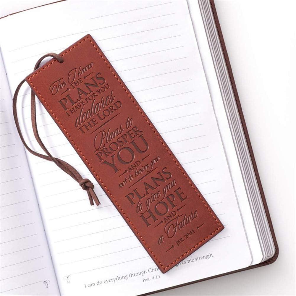 Segnalibro Uomo Personalizzato,segnalibro In Pelle Cuoio Originale Vergine for Maestre Bomboniera Battesimo Natale-Nero Color : Brown, Size : 1pc