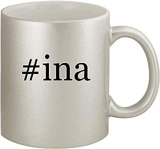 #ina - Ceramic Hashtag 11oz Silver Coffee Mug, Silver