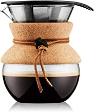 Bodum Pour Over Coffee Maker Cork Band, 17 Ounce, .5 Liter, (11592-109)