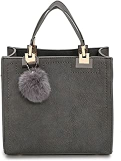Women PU Leather Pendant Top Handle Bag Tote Shoulder Bags Handbags Purse Small Crossbody Bag