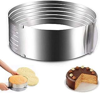 ProLeo Moule à gâteau rond en forme de cercle - Indispensable pour tous les boulangers amateurs (diamètre 15,2-20,3 cm)