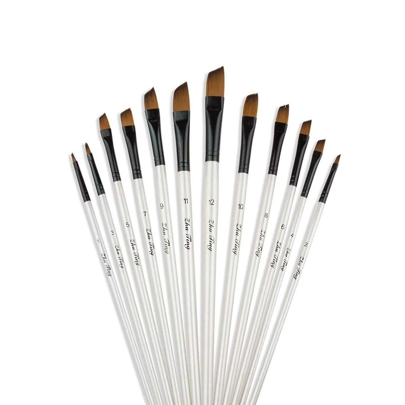 YXQSED-Paint Brush Set Quality Artist Paint Brushes Artist Brushes for Acrylic Oil Watercolor Gouache Face Painting Skewed Peak Paintbrus