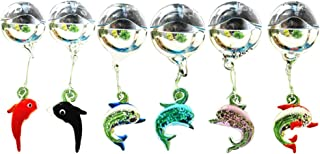 OMEM 6 Pack Aquarium Float Ball Decoration, Colorful Luminous Crabs, Whale, Dolphin, Fish Tank Micro Landscape Ornament