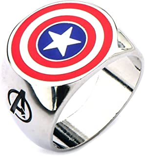 Official Avengers Captain America Shield Logo Fashion Ring - Boxed