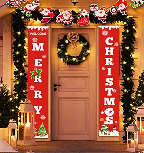 Idefair Merry Christmas Banners,New Year Outdoor Indoor Christmas...