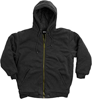 Men's Hooded Sweatshirt - Quilted - DTM Thermal Lined - Zipper Front