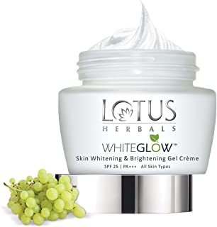 Lotus Herbals Whiteglow Skin Whitening And Brightening Gel Cream | SPF 25 | 60g