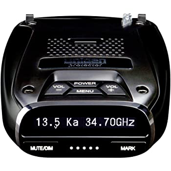 Uniden DFR7 Super Long Range Wide Band Laser/Radar Detector, Built-in GPS w/Mute Memory, Voice Alerts, Red Light & Speed Camera Alerts, OLED Display, Black
