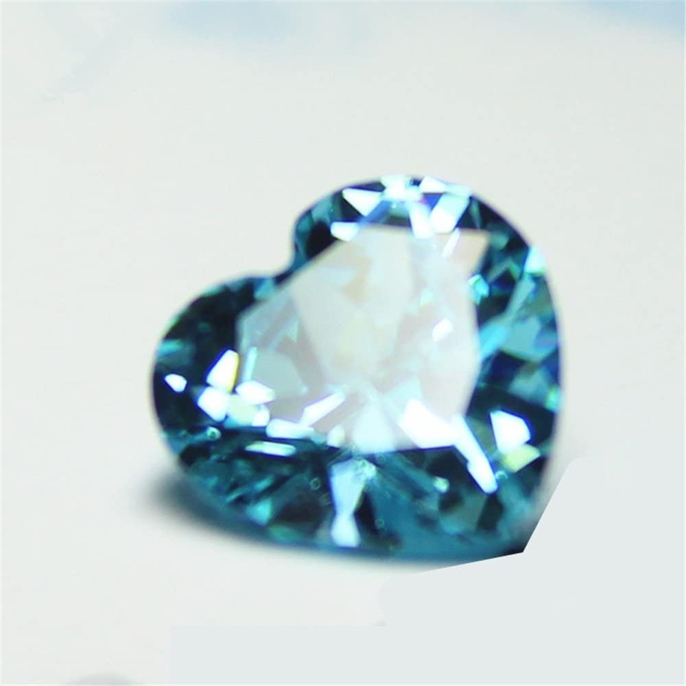 8-inch Natural Multi Aquamarine faceted heart shape size 5-6mm 42cts