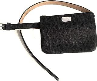 New Michael Kors MK Logo Fanny Pack Belt Size XL 38-41 Waist Purse Bag Black
