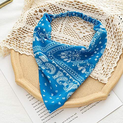 MUGBGGYUE Elastisches Haar Schal Stirnband Haarbandanas Dreieckstuch Kopftuch für Frauen Mädchen Boho Blume Haarschal Vintage Stirnband
