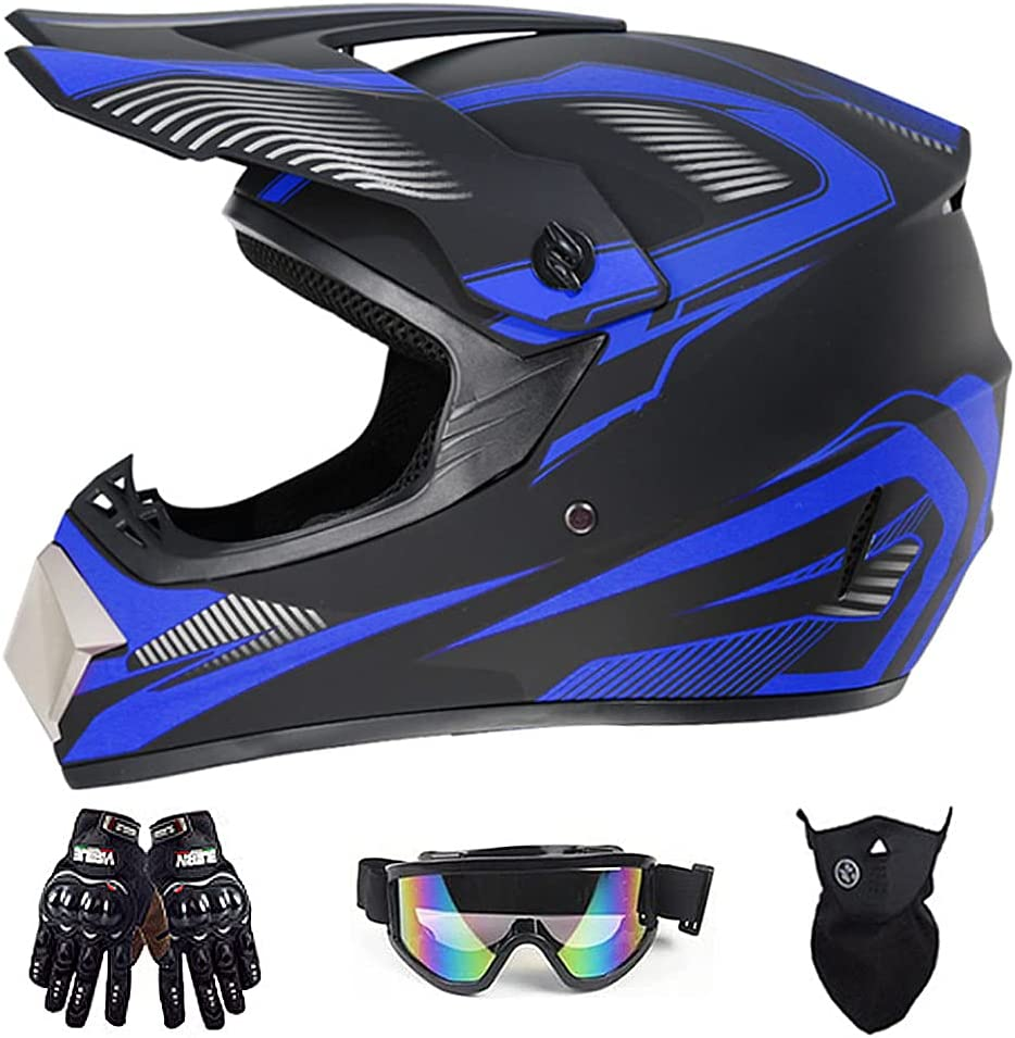 Motocross Helmet Youth Adult with List price Glo Goggles Motorcycle 1 year warranty