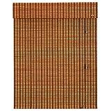 WYAN Persianas enrollables opacas de bambú con cable para terraza, porche, 60 %...