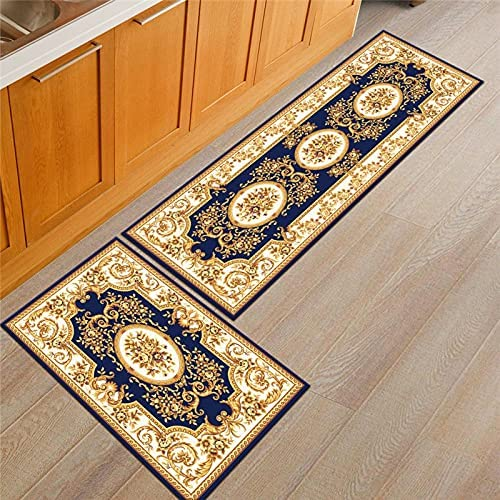 It is very popular Baltimore Mall HLXX Kitchen Floor Mats Vintage Non-Slip Rug Washable Absorbent