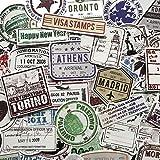 BLOUR 60 Piezas Creativas matasellos Estilo Pegatinas de la Popular Ciudad de París, Nueva York, Londres, Roma para Equipaje Maleta calcomanía de Coche F4