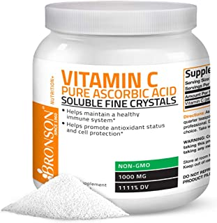 Vitamin C Powder Pure Ascorbic Acid Soluble Fine Non GMO Crystals – Promotes Healthy Immune System and Cell...