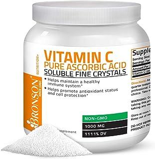 Sponsored Ad - Vitamin C Powder Pure Ascorbic Acid Soluble Fine Non GMO Crystals – Promotes Healthy Immune System and Cell...