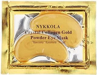 NYKKOLA 30 Pairs 24K Gold Eye Mask Powder Crystal Gel Collagen Natural Eye Pads For Anti-Aging & Moisturizing Reducing Dark Circles, Puffiness, Wrinkles