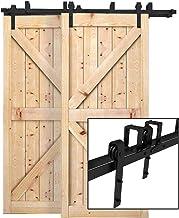 5.5FT//167cm Porte coulissante Rail en acier inoxydable porte de grange en bois