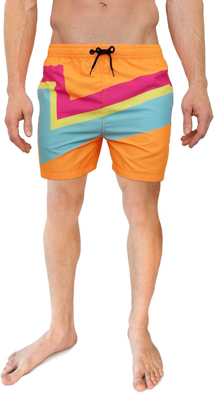 1970s Men's Clothes, Fashion, Outfits Cabana Bro Mens Swim Trunks - Retro Style Summer Swim Suits for Men $29.50 AT vintagedancer.com