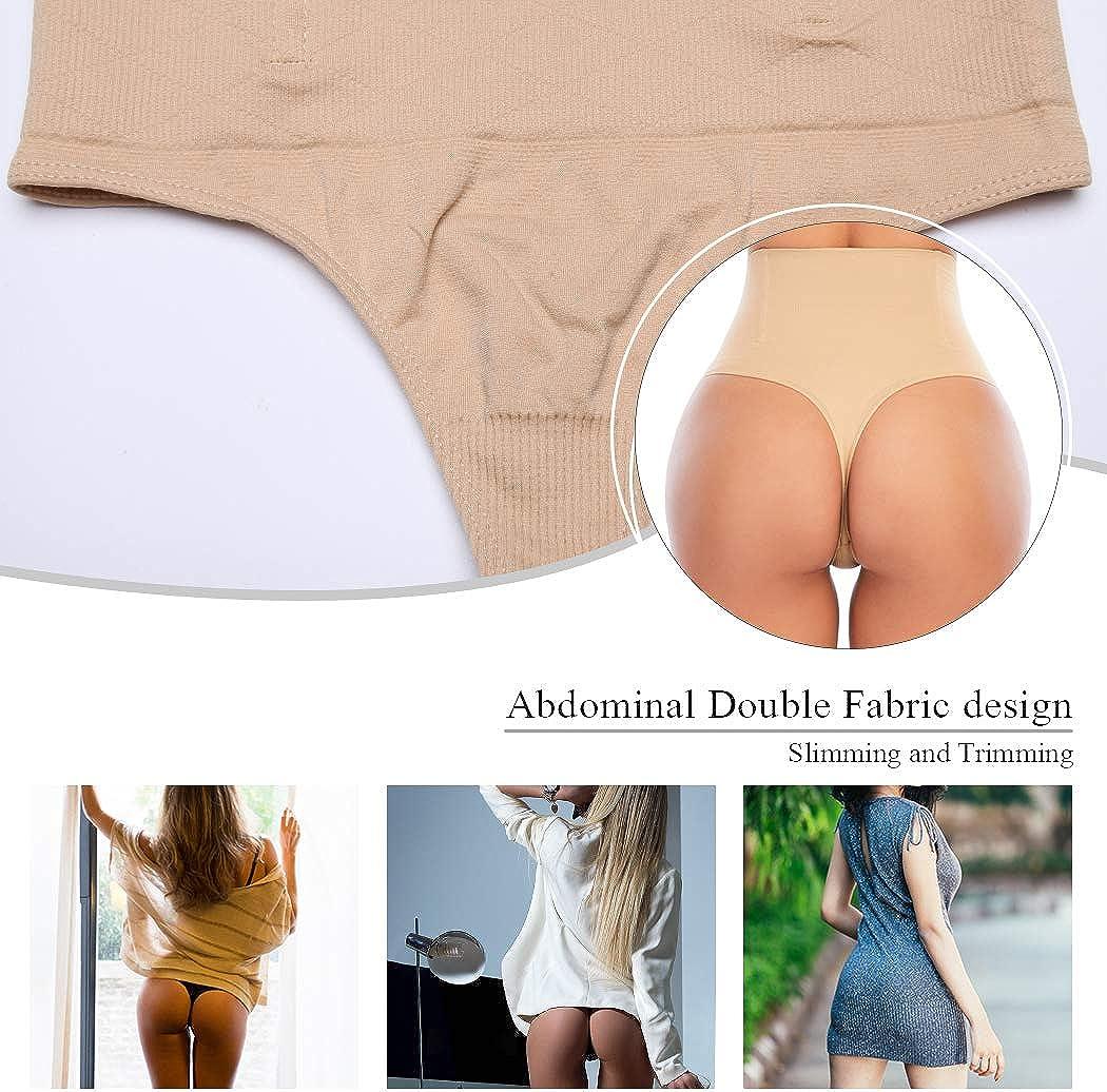 Tummy Control Thong Shapewear for Women Seamless Shaping Thong Panties Body Shaper Underwear