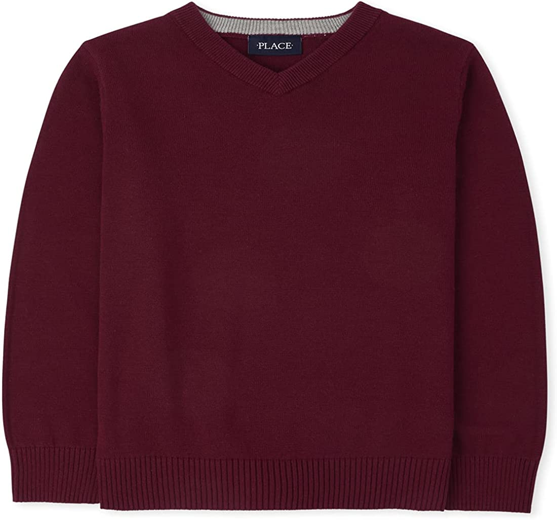 The Children's Place Boys' Long Sleeve V Neck Sweater: Clothing, Shoes & Jewelry