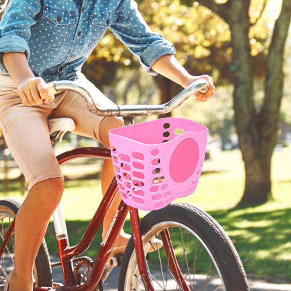 Dibiao Children Scooter Basket,Outdoor Bicycle Scooter Cute Front Basket Bike Cycle Shopping Holder for Children Kids