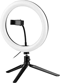 مجموعة تدفق الفيديو من أندوير مع 10 بوصة LED حلقة مضيئة برأس كروي ثلاثي ثلاثي القوائم مصراع عن بعد مع حامل هاتف