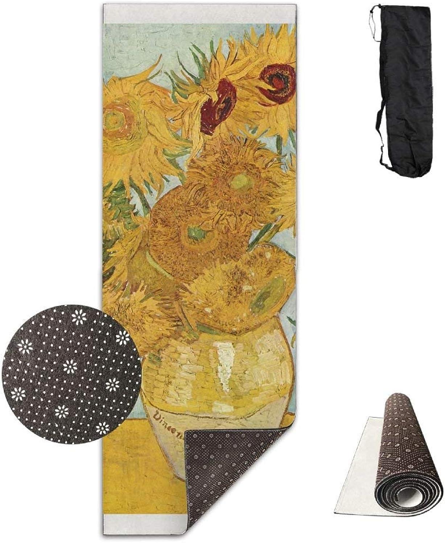 Van Gogh Yellow Flower Yoga Mat, Premium Yoga Mat, NonSlip Backing  Lightweight and Durable Yoga Mat for Exercise, Yoga, and Pilates 72x24 Inch