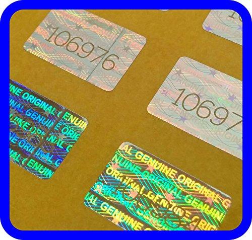 5000 Hologramm Etiketten mit Seriennummern, Garantie Siegel Aufkleber 16x10mm