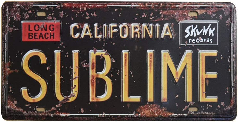 VINTAGE SIGN California License Plate State 20 x 16