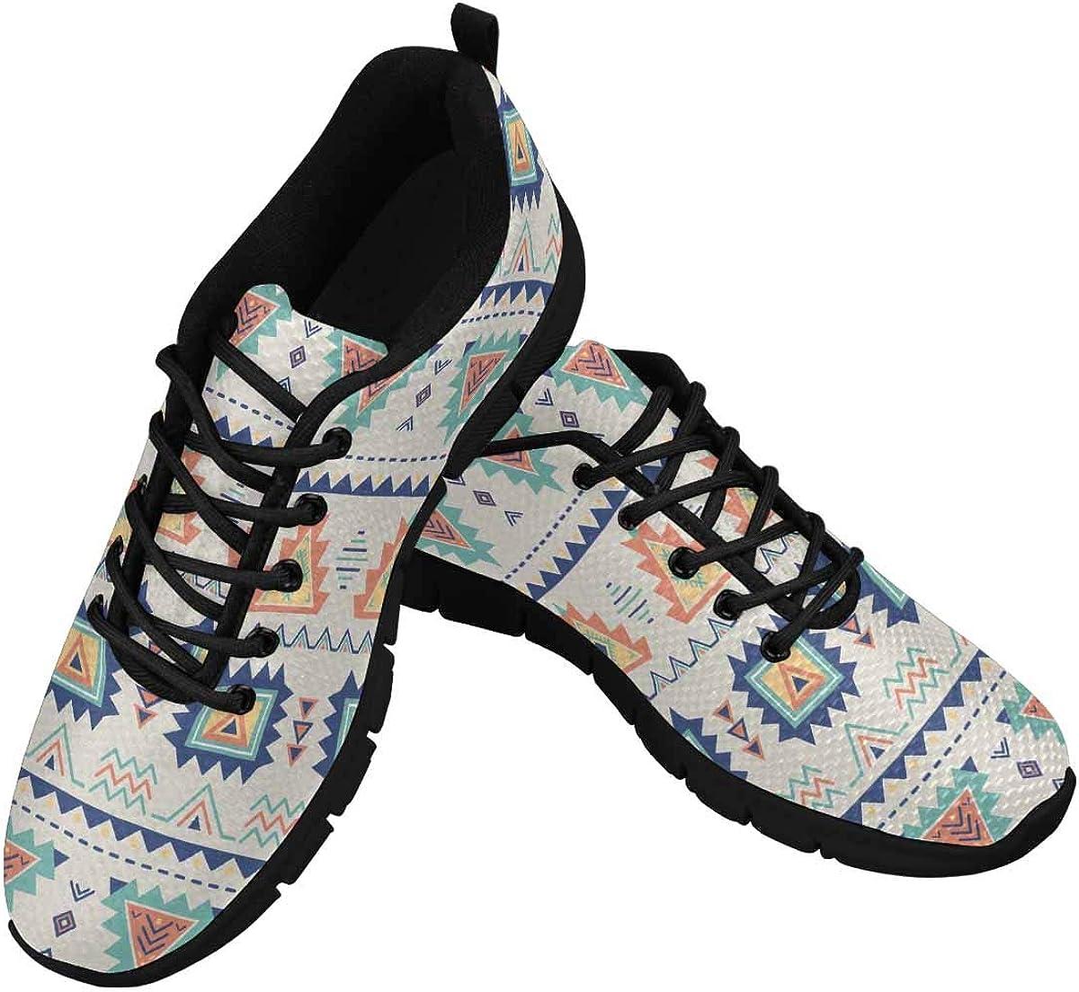 INTERESTPRINT Aztec Ethnic Women's Walking Shoes Lightweight Casual Running Sneakers