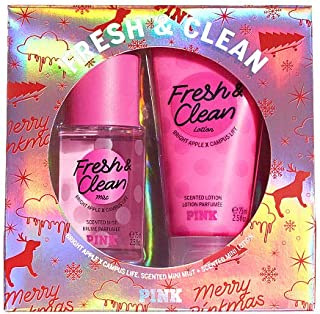 Victoria Secret NEW! FRESH & CLEAN PINK MINI MIST & LOTION GIFT SET
