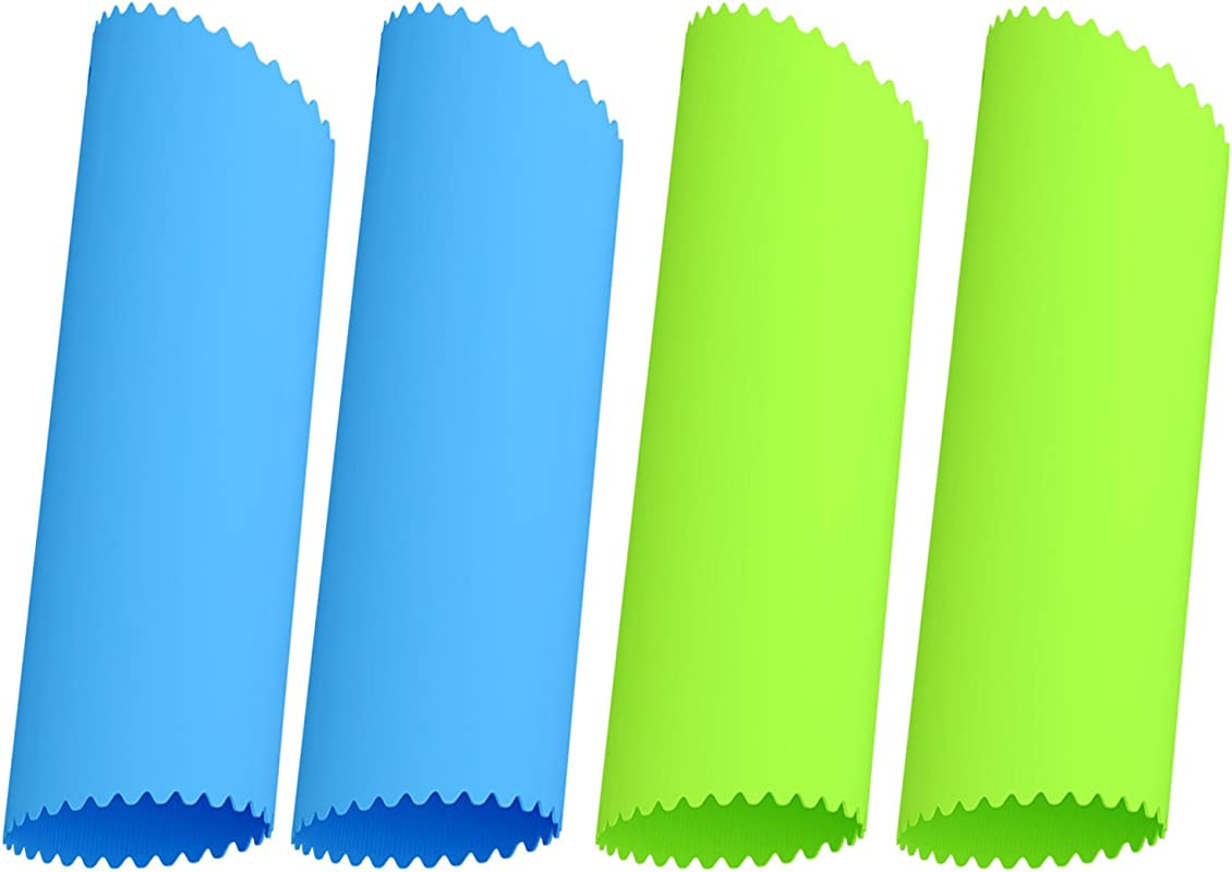 Silicone Garlic Peeler Acerich 4 Pcs Silicone Garlic Roller Peeling Tube Easy Useful Kitchen Tools Blue Green