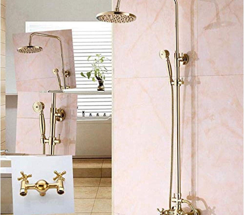 Makeyong VerGoldete Gold Badewanne Wasserhahn Griff Keramik Handbrause Wasserhahn Bad Duschset