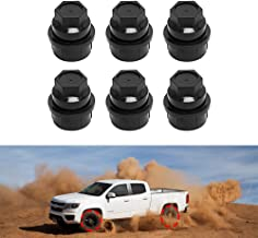 BASIKER 6 Pcs Black Plastic Wheel Lug Nut Cap Cover for GMC Chevy GM Trucks Screw on 1 inch Lug Nut Hexagon Caps Replace OEM 15646250