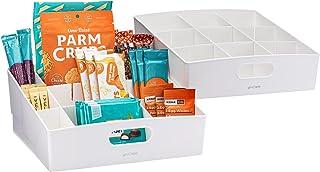 YouCopia ShelfBin 3-Tier Packet & Snack Bin Organizer, Pack of 2, White