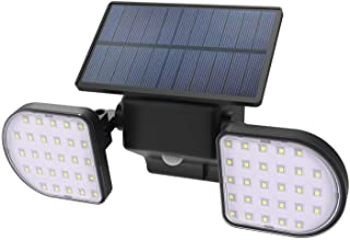 Neetto 56 LED Solar Lights Outdoor Wireless IP65 Waterproof Solar Motion Sensor Night Lights, Double Headed Adjustable, Sp...