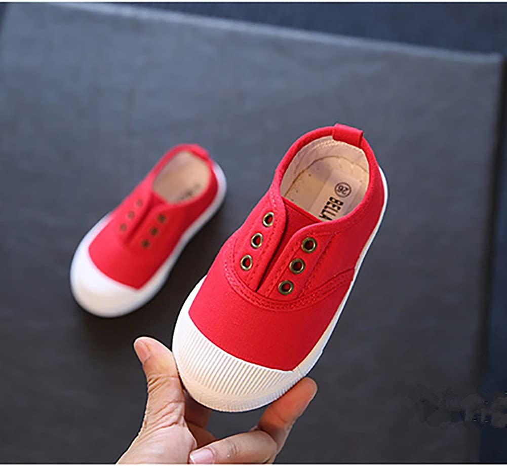LanXi Kids Candy Color Canvas Shoes Casual Loafers Sneakers for Girls Boys