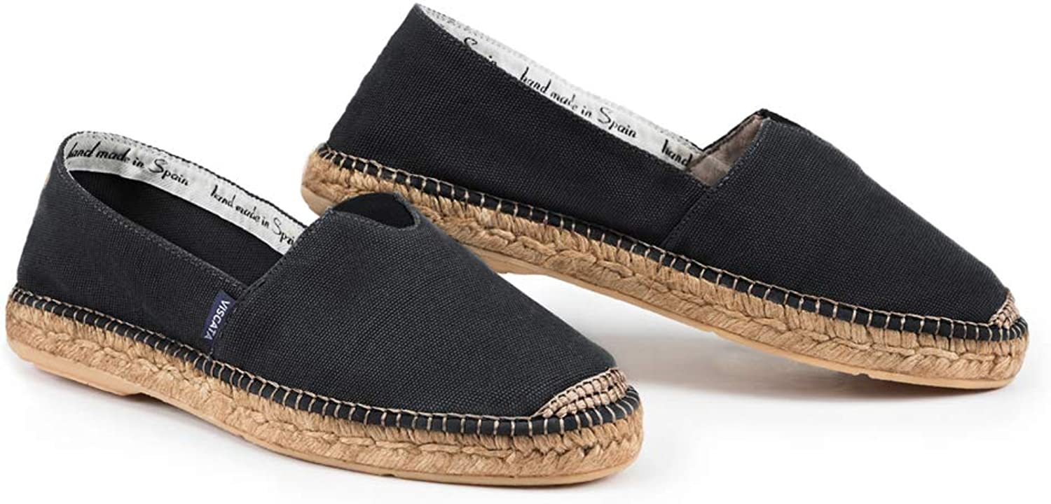VISCATA Handmade in Spain Men's Barcelona Authentic & Original Spanish Made Espadrilles, with Padded Sole and Elastic Inseam for Extra Comfort and Fit