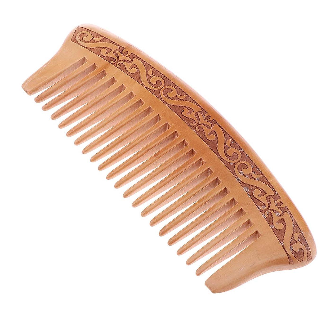 成長説教しなやかなP Prettyia 木製櫛 コーム ヘアブラシ 静電気防止 頭皮マッサージ 快適 5タイプ選べ - J16e