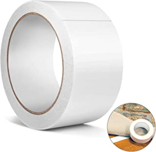 Double Sided Carpet Tape, Heavy Duty Rug Gripper Anti Slip Adhesive for Rugs, Carpets, Mats, Strongest Hold for Hard Wood Floors, Tile, Concrete, Stair Treads, All Flooring,(Removable)(2 Inch10 Yard)