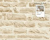 Tapete 355802 Kollektion Best of Wood`n Stone inklusive E-Book, Stein, Mauer, Sandfarben, 35580-2, A.S. Création Vliestapete