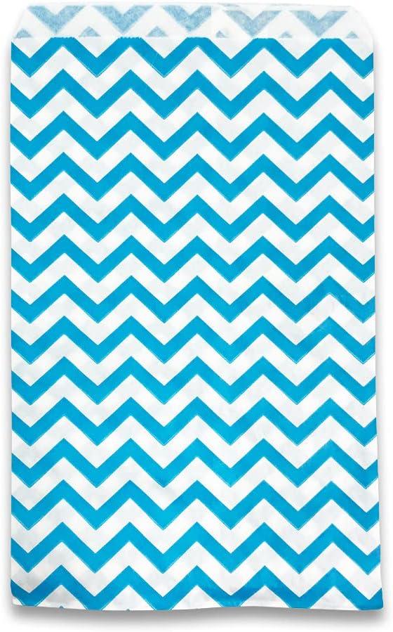 "25 Product pcs of 4"" x 6"" – Bags Paper Gift Fashion Chevron-Blue"