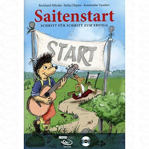 Saitenstart - Schritt fuer Schritt zum Erfolg - arrangiert für Gitarre - mit CD [Noten/Sheetmusic] Komponist : Mikolai Burkhard